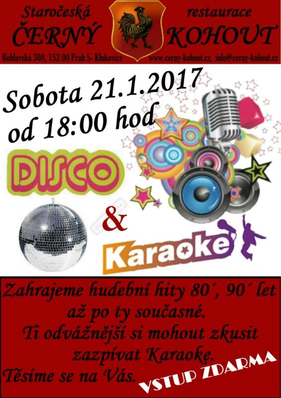 Leták 21.1.2017 Disco & Karaoke (1)